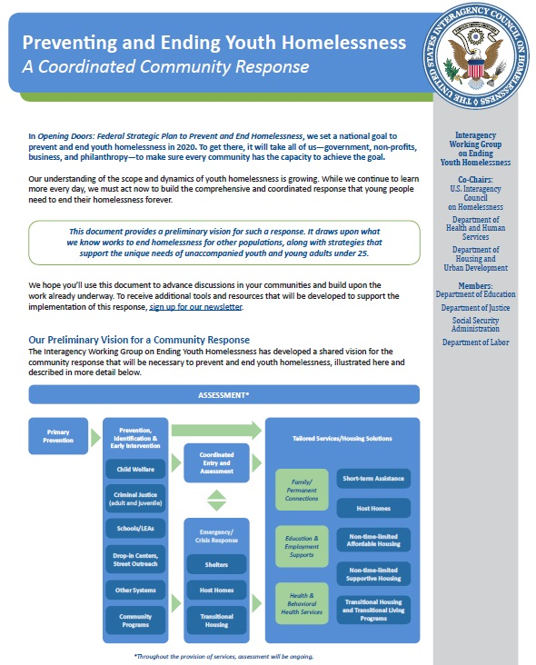 Preventing and Ending Youth Homelessness Page 1 of document