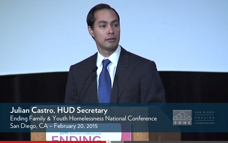 Secretary Julian Castro at the National Conference on Ending Family and Youth Homelessness