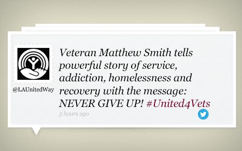 @launitedway #unite4vets veteran homelessness