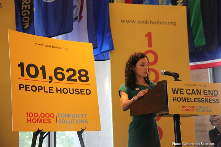 Laura Zeilinger at 100,000 Homes Campaign Announcement