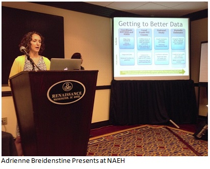 Adrienne Breidenstine presents at NAEH conference