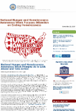 us interagency council on homelessness nov 20, 2014 newsletter 2014 NHHAW, Medicaid, Youth homelessness